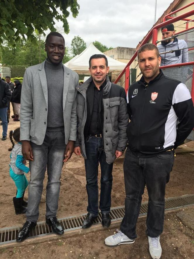 Yakhouba, vice président de Dourdan Sport, Paolo De Carvalho, président de Dourdan Sport et Medjahed  Abdelnor, vice président