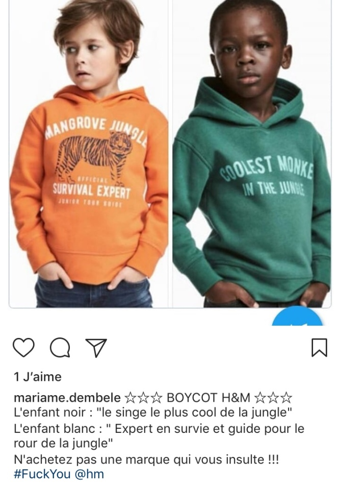 instagram mariame.dembele polémique H&M