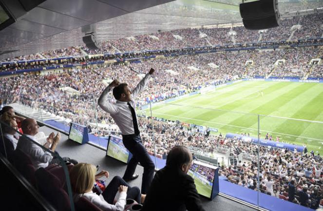 Macron fan des bleus